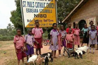 Anambra School gives 'goat' as gift to distinguished students