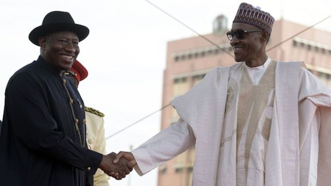 Jonathan prays for Buhari's son quick recovery, urges others follow suit