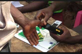Card reader malfunctions at Sanwo-Olu polling unit
