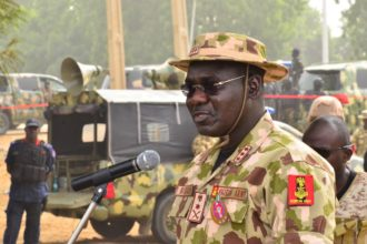 Insurgency: Army Chief, Buratai relocates to North East