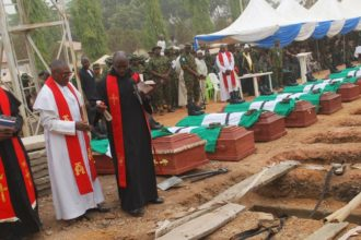 Army gives befitting burial to 11 soldiers killed by bandits in Kaduna