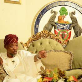 Osun 2018: Aregbesola installs countdown beam on office exit