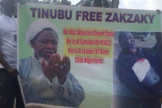 Shiites protesters storm Tinubu's Ikoyi residence, demand immediate release of El-Zakzaky [Photos]