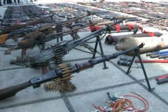 FG destroys 5,870 recovered illegal arms in Zamfara