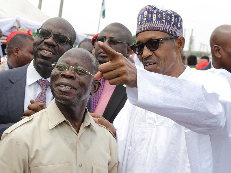 APC crisis: Oshiomhole denies holding secret meetings with Buhari, Tinubu in London