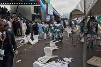 BREAKING: Pandemonium as delegates clash at APC National Convention [Photos]