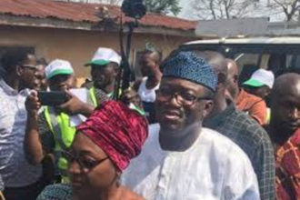 Fayemi expresses optimism as card reader rejects wife's PVC