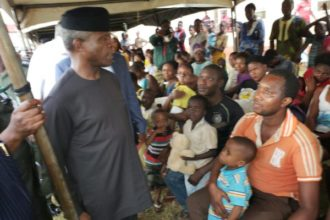 Osinbajo orders NEMA to supply more relief materials to flood victims