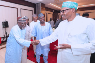 Senate Invasion: Buhari meets sacked DSS DG, Daura in Aso Rock