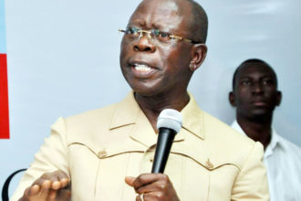 Oshiomhole denies uttering uncomplimentary remarks against Buhari's wife, blasts PDP