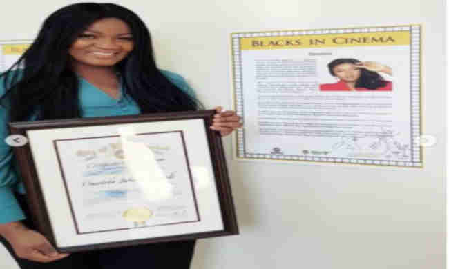 Omotola Jalade Receives Special Recognition In Los Angeles