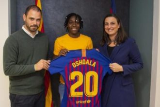 Barcelona sign Oshoala on permanent deal