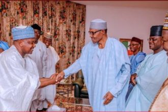 Buhari hosts APC Governors, Senators-elect to a dinner