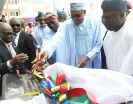 Buhari scores Ambode high after commissioning projects in Lagos