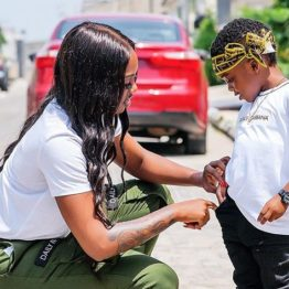 Tiwa Savage celebrates son as he clocks four
