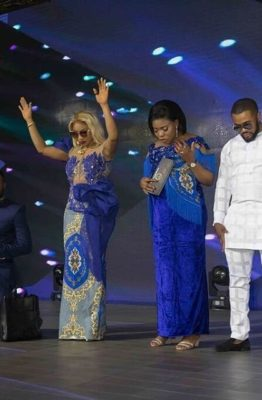 Tonto Dikeh, Williams Uchemba, others attend thanksgiving service in COZA