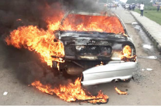 Five burnt to death, 10 injured in Lagos-Ibadan expressway accident