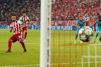 UCL: Olympiakos hit back to draw 2-2 with Tottenham Hotspur