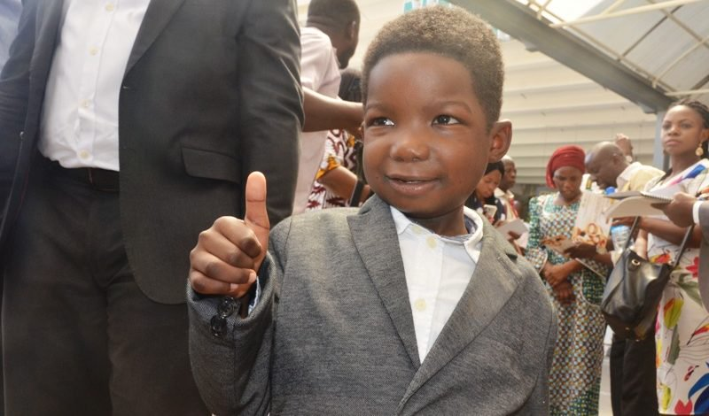 Photo of [Photos] Six-year-old Boko Haram victim, Ali returns to Nigeria after successful surgery