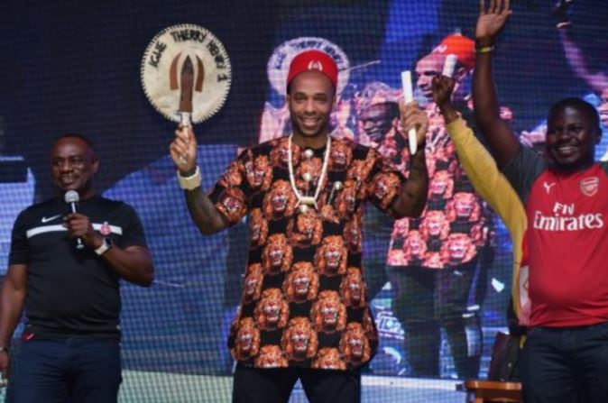 Photo of Thierry Henry crowned 'Igwe of Football' in Lagos