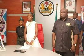 Girl, 14, emerges Abia State's One Day Governor
