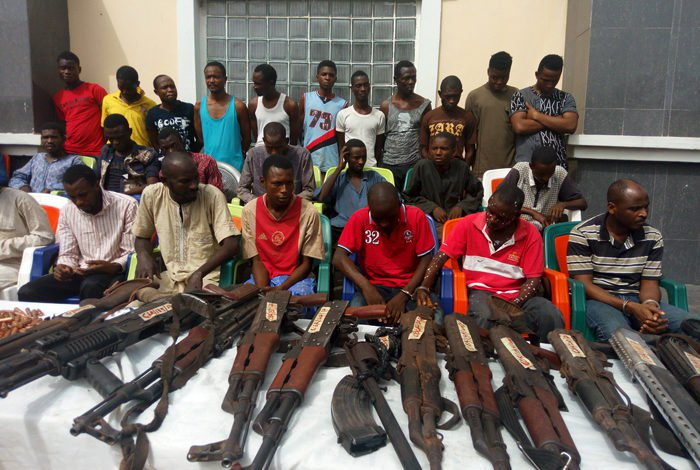 Police parade 30 suspected inter-state robbers, kidnappers in Kogi