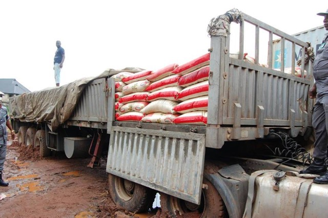Customs discovers new method of smuggling rice