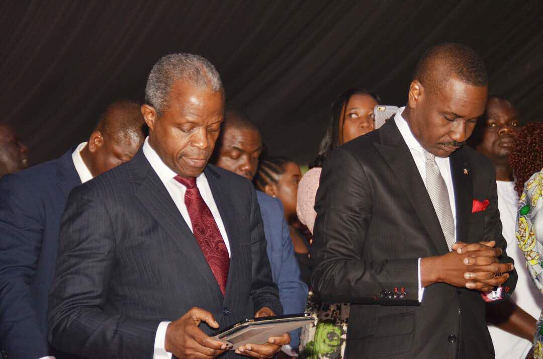 JUST IN: Osinbajo, Gowon, Shonekan, Dogara attend Christmas Carol inside Aso Rock