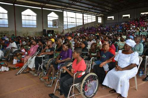 Commission donates wheel chairs to physically challenged persons