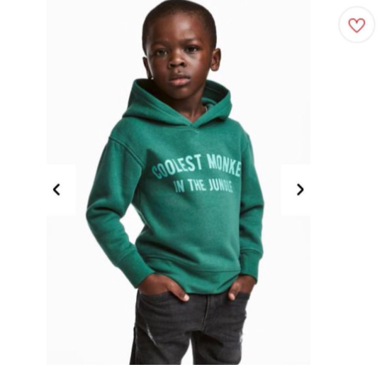 Photo of H&M under fire for using black kid model to promote hoodie with racial slur