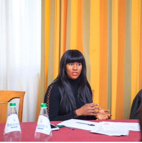 Photo of Stephanie Linus visit Italy to campaign against human Trafficking
