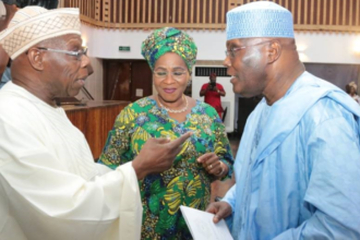 Exposed! How Obasanjo knelt before Atiku to clinch PDP's presidential ticket in 2003