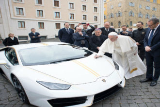 Pope auctions Lamborghini gift, donates £715,000 proceeds to charities