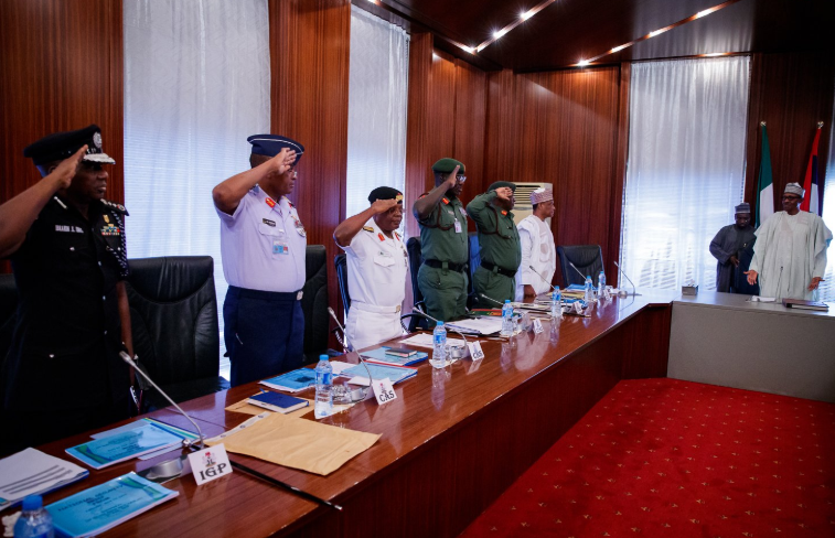 Photo of Mounting Insecurity: What Buhari, Service Chiefs discussed in Aso Rock