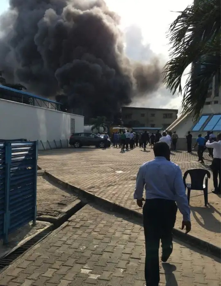 Photo of Just In: Fire razes Ecobank head office in Lagos
