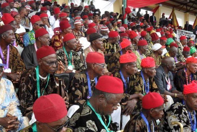 Photo of 2019: No restructuring, no vote – Ohanaeze Ndigbo tells presidential candidates