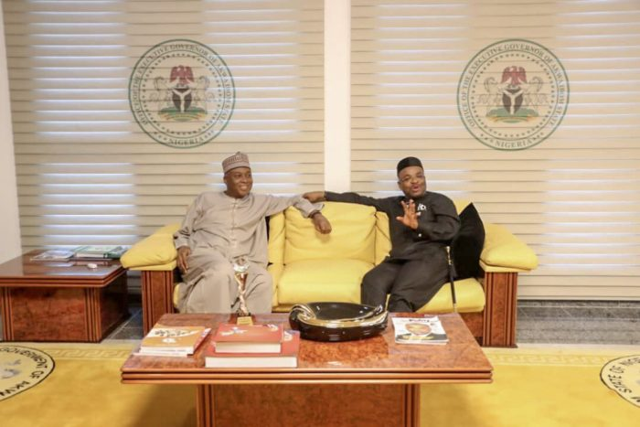 Photo of Saraki pays solidarity visit to Gov Udom few days after Akpabio's defection