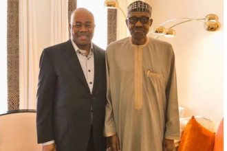 Defection: Akpabio lied he was going to Germany, ended up with Buhari in London – PDP