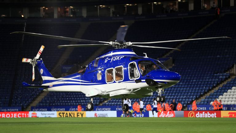 Photo of Leicester City owner's helicopter crashes