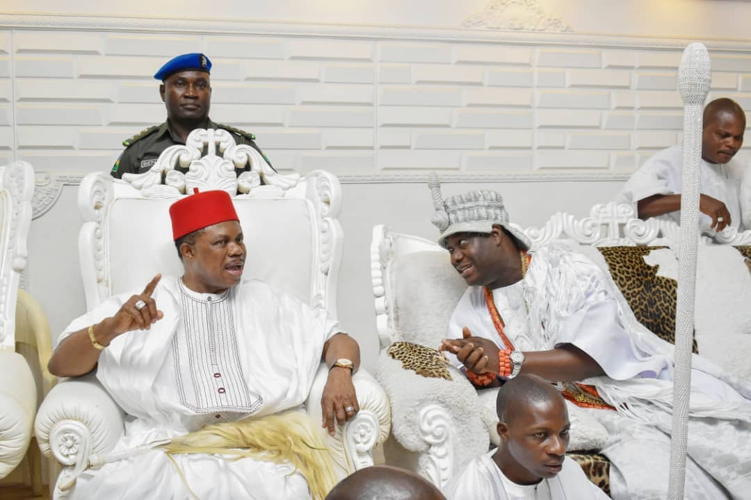 Photo of Anambra Gov, Obiano visits Ooni of Ife, wife [Photos]