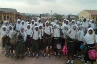 [Photo] LAUTECH international school shuts 55 students outside for appearing in hijab