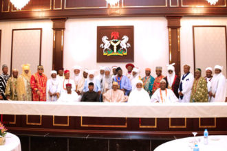 Buhari hosts traditional rulers, urges to support fight against criminality