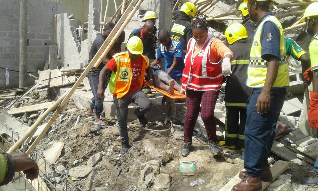 Photo of Tragedy as school building collapses in Lagos, many students trapped, dead