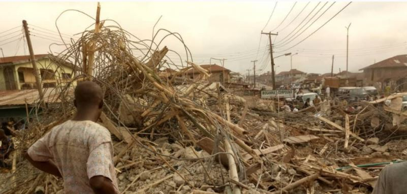 Photo of BREAKING: Another building collapses in Lagos Island