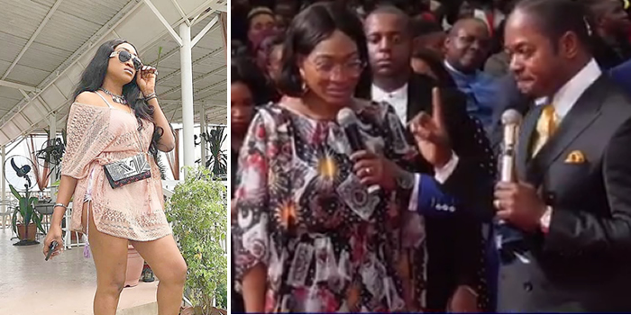 Photo of Drama as nollywood actress, Oge Okoye visits controversial South African pastor for deliverance