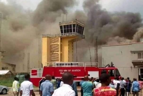 Photo of Panic as Imo Airport guts fire