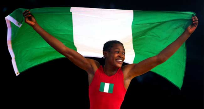 Photo of Adekuoroye crowned best wrestler at 2019 African Senior Championships
