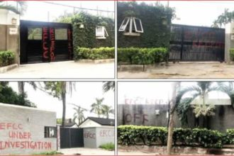 EFCC seals Saraki's houses in Lagos