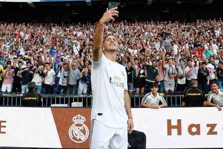 Photo of Hazard ends one-year goal drought at Madrid with 25-yard stunner