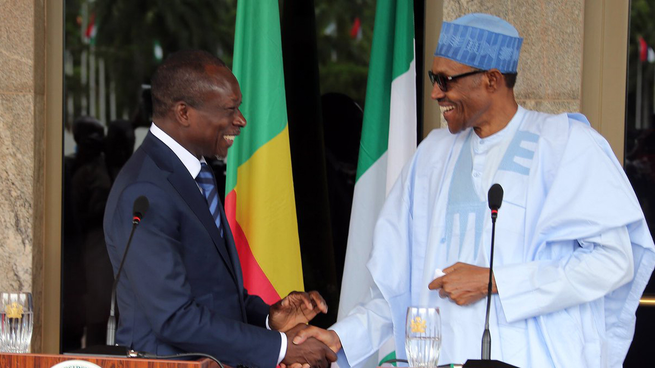 Photo of Buhari hosts Beninese President, Patrice Talon, at Aso Villa